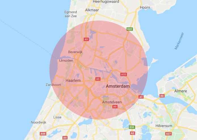 Werkgebied RRS Amsterdam