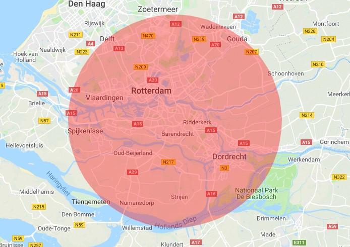 Werkgebied RRS Rotterdam